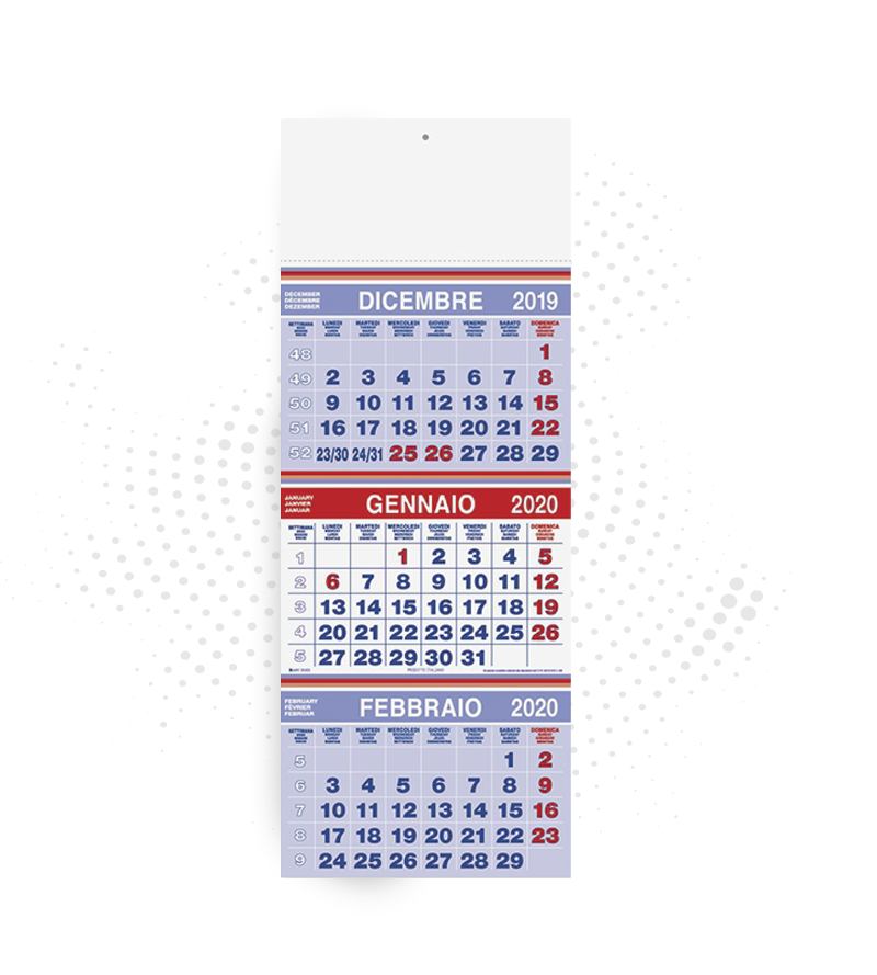calendario trittico 1 colore